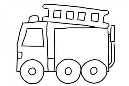 简单的消防车怎么画