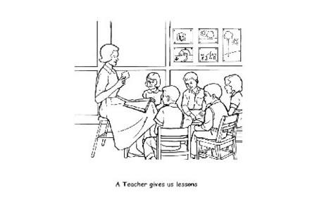 美术老师简笔画图片