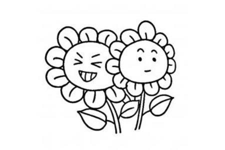 儿童可爱向日葵简笔画