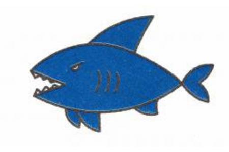 鲨鱼简笔画画法