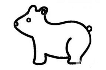简单的小熊怎么画