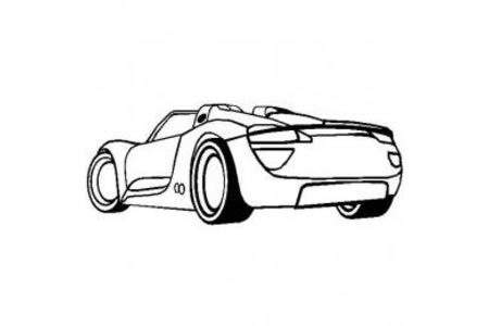 保时捷超级跑车简笔画图片