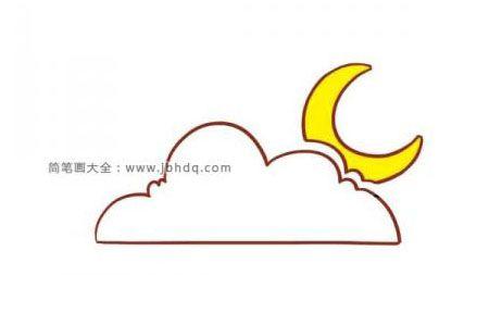 云朵后面的月亮