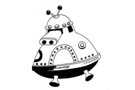 载人宇宙飞船简笔画