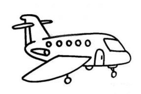 飞机场上的飞机简笔画