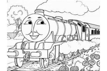 托马斯小火车简笔画图片