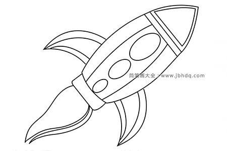 简笔画图片火箭