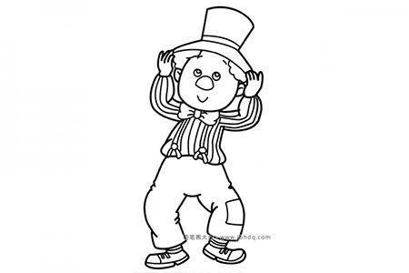 绅士装扮的小男孩
