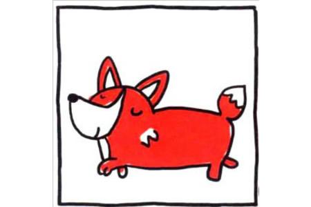 四步画出可爱简笔画 狡猾又可爱的小狐狸