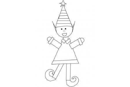 幼儿圣诞精灵的画法