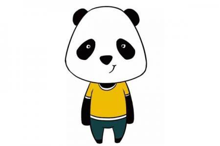 可爱的卡通大熊猫简笔画