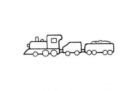 教你画简单的火车