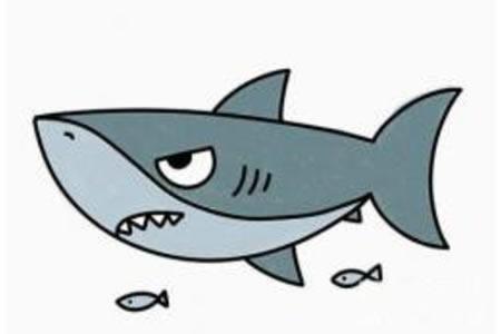 凶狠的鲨鱼简笔画画法