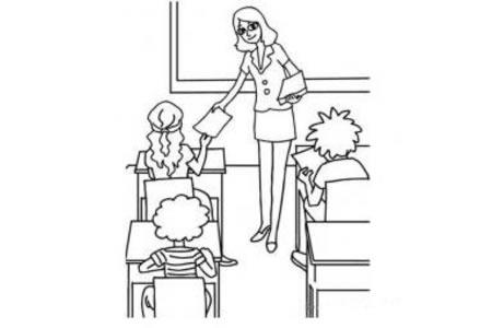 监考老师简笔画图片