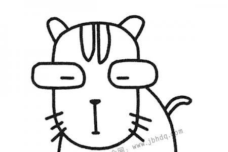 忧郁的猫咪简笔画图片