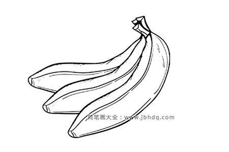 一张好看的香蕉简笔画图片