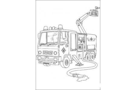 如何画消防车