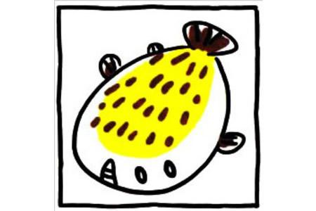 四步画出可爱简笔画 怪怪的左口鱼