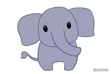 学画可爱的大象简笔画