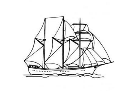 交通工具简笔画大全 帆船简笔画