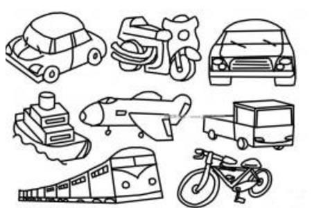 八种交通工具简笔画图片