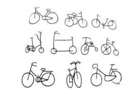 一组超简单的自行车简笔画