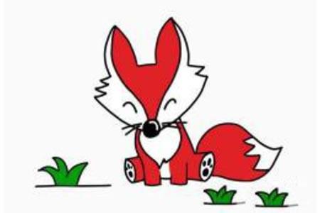 简笔画小狐狸的画法