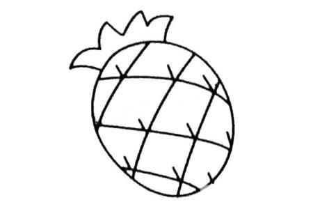 菠萝简笔画大全及画法步骤