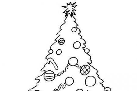 简单圣诞树的画法