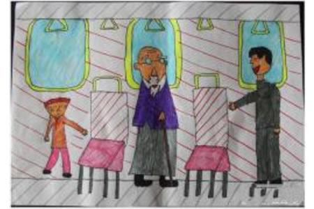到处都是活雷锋小学生水彩笔画欣赏