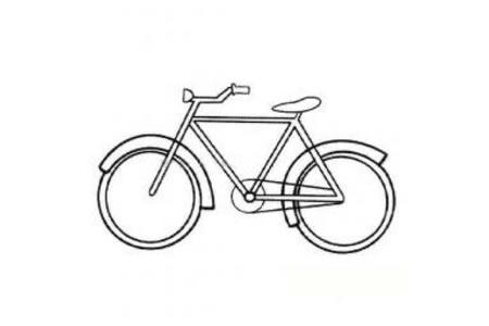 普通自行车简笔画图片