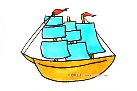 学画漂亮的帆船