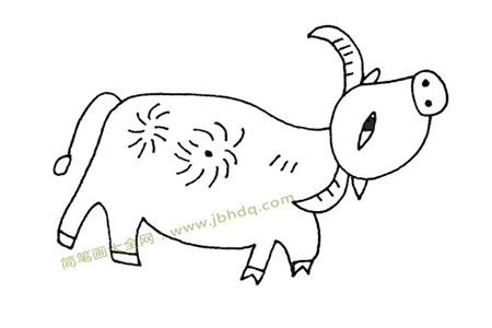漂亮的水牛简笔画图片