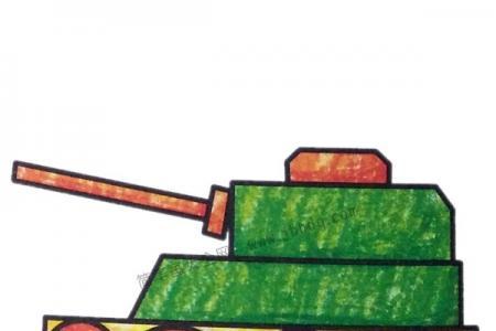 军事交通工具 坦克简笔画