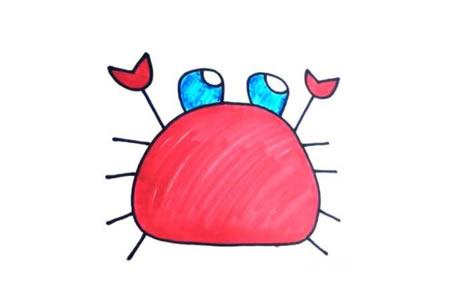 学画螃蟹视频教程
