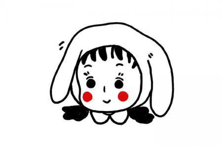 超可爱小女孩头像简笔画
