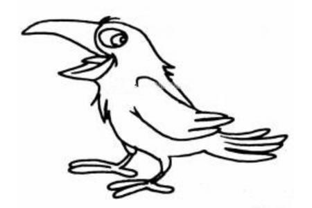乌鸦简笔画图片