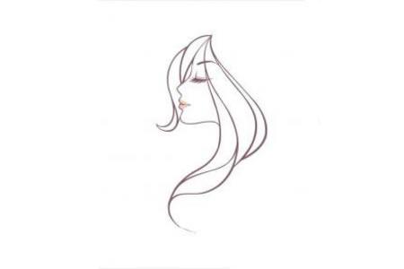 漂亮的发型头像简笔画图片