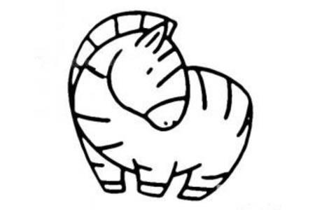 斑马的简笔画画法