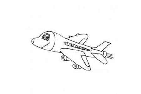 儿童简笔画 空中飞行的飞机