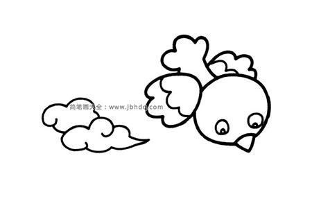 天空上的小鸟简笔画