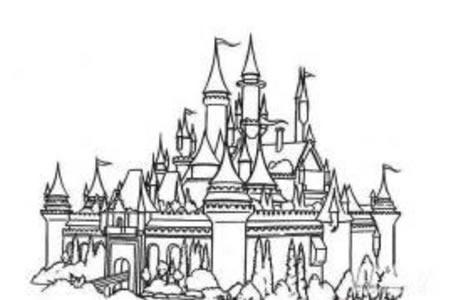壮观的城堡简笔画