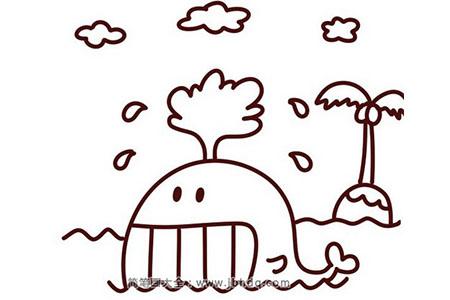 鲸鱼简笔画