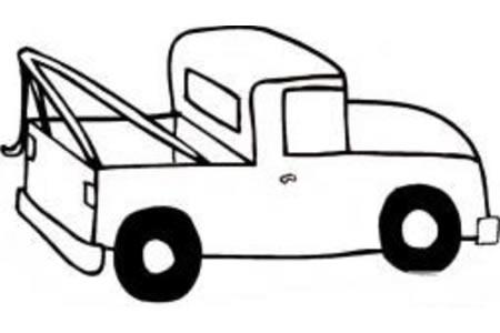 简单的小卡车简笔画