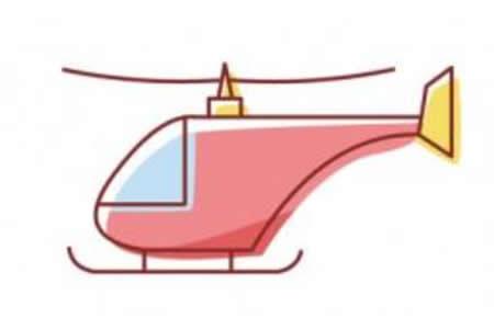 简笔画直升机的画法