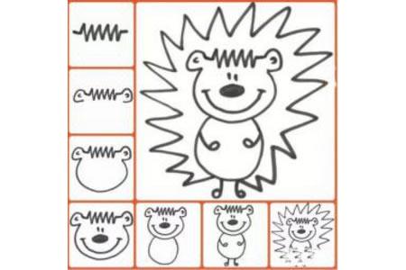 幼儿简笔画教程 刺猬的画法简笔画