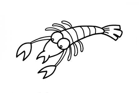 可爱的虾怎么画