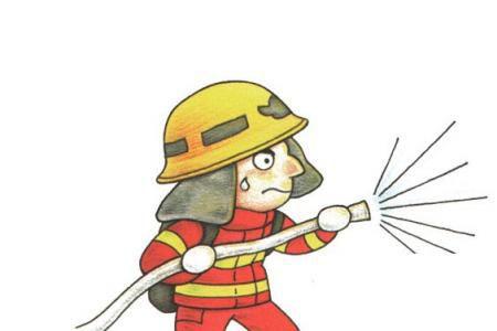 消防员的简单画法