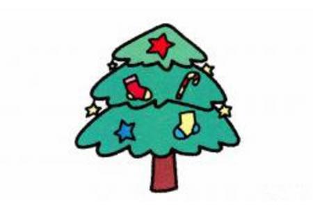 圣诞树简笔画画法