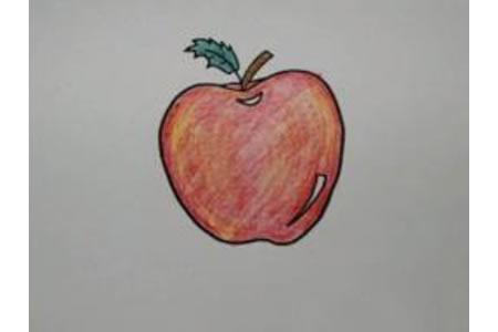 红通通的大苹果怎么画